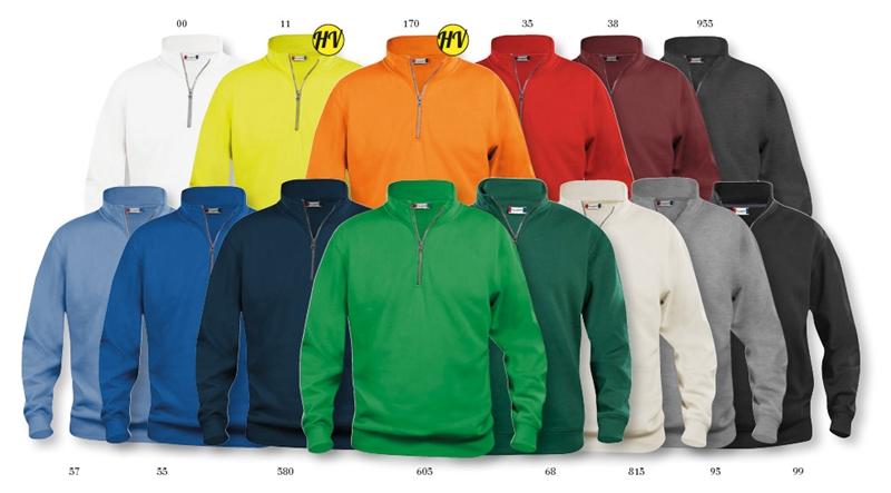 abc99e04 Basic genser med glidelås i halsen - billige gensere med trykk eller ...