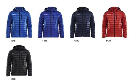 Craft Isolate jakke klubbjakke teamjakke for damer og jenter