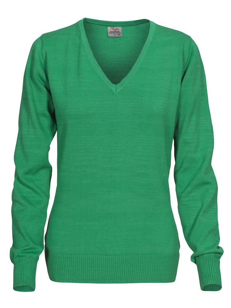 Forehand genser med v hals i bomull og polyester for damer