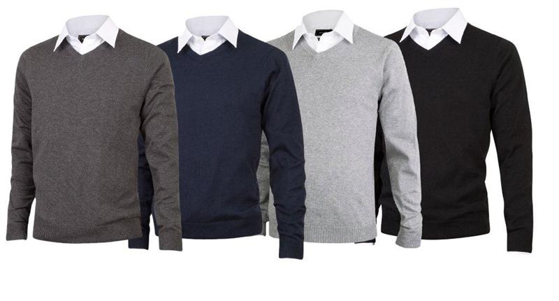 170f0b0e Pima cotton v-hals genser, v-genser, bomullsgenser, pima-bomull, tracker  3086