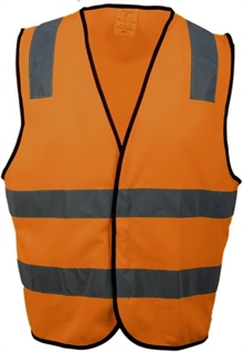 EN 471 klasse 2 godkjent  refleksvest Odense_Safety_orange