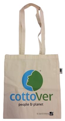 Handlenett Fairtrade i økologisk bomull med eller uten trykk av logo