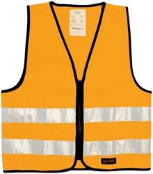 85bbac42 Refleksvester for barn i grønn, rosa, gul og oransje med glidelås ...